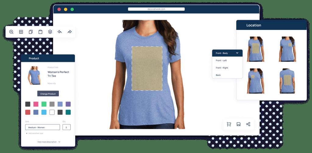 Online t-shirt design software