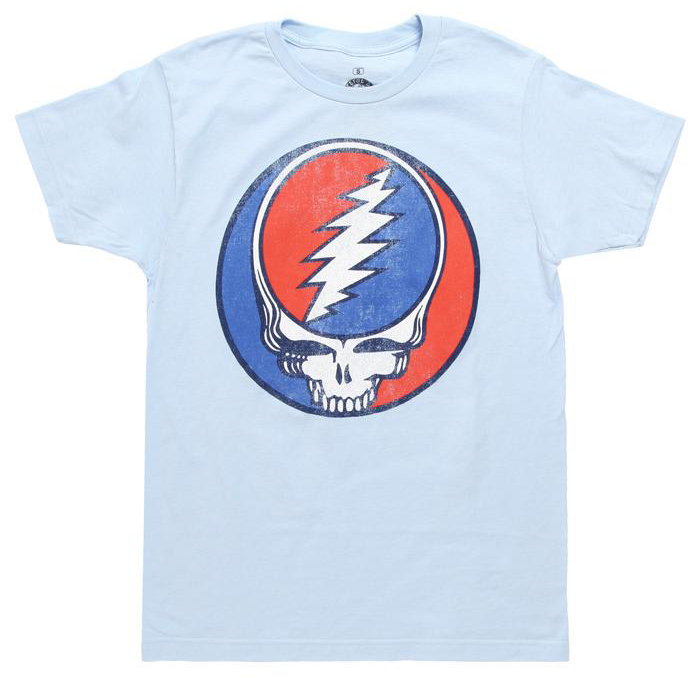 """When it comes to band T-shirts, it is only right to include Grateful Dead's, """"Steal Your Face"""" logo to the Top 10 list."""