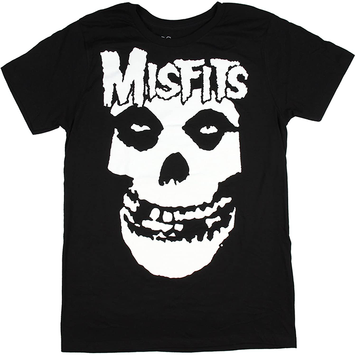 When it comes to picking a Top 10 list for iconic band T-shirts, the band Misfits and their ultra-popular skulls T-shirt was a no-brainer to add to the list.