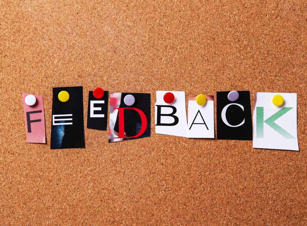 Give your employees good feedback.