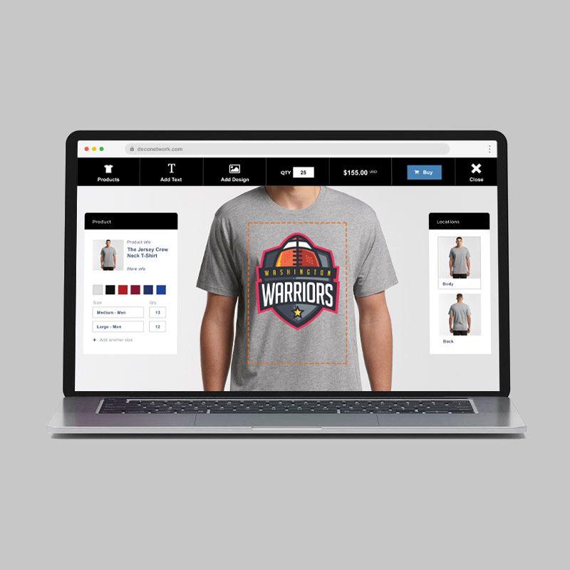 print shop mock up online designer deconetwork